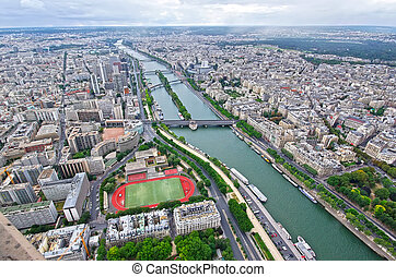 Paris, aerial view