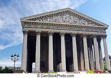 Madeleine church - Temple Madelaine church in Paris, France