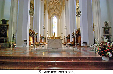 Interior view of Frauenkirche Cathedral - The Frauenkirche...
