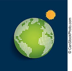 Green Earth. Vector Illustration.