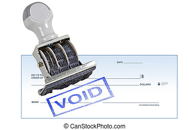Void Blank Check - Isolated white background void blank...
