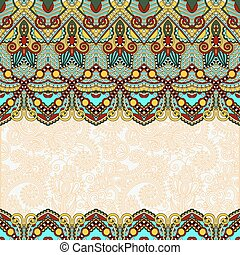 ornamental floral folkloric background for invitation, cover...