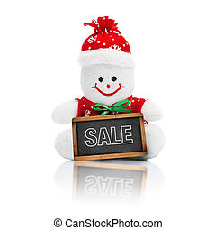 Smiling Generic Christmas Snowman Toy - Smiling Happy...