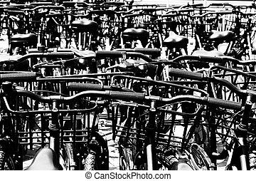 Bikes Black and white image - Artsy image of bikes in black...