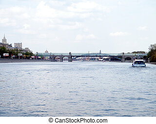 Moscow the Andreevsky Bridge 2011 - The Andreevsky Bridge on...