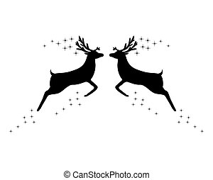 Two reindeer with stars