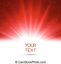 Abstract magic red light background - Vector illustration...