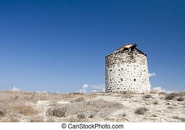 wiatrak,  kefalos, starożytny,  Kos, grecja