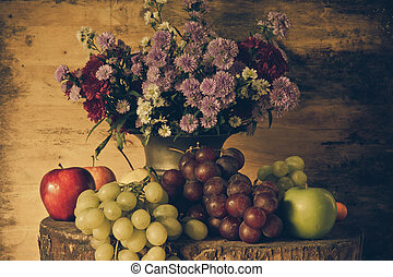 Still life with Fruits - Still Life Fruits were placed on...