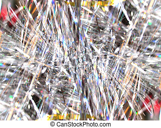 Stylized bg with silver tinsel