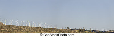 Highway and Palm Springs Windmills