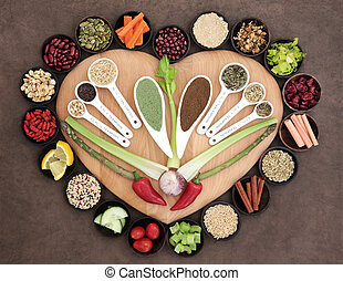 Healthy Nutrition - Large healthy heart superfood selection...