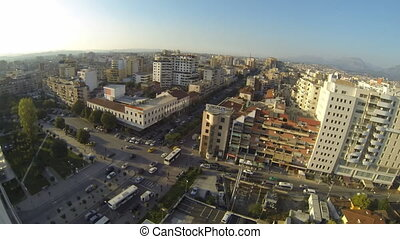 Panoramic view of Tirana - TIRANA, ALBANIA - OCTOBER 22:...