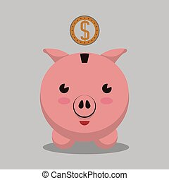 saving money design - saving money graphic design , vector...
