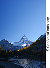 Mountain in Canadian Rockies with blue sky
