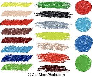 Rainbow vector brush strokes collection. Vector...