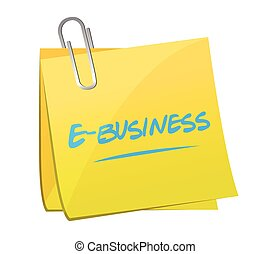 e-business memo post illustration design over a white...