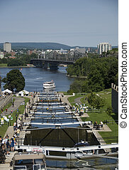 The locks of the Rideau Canal, Ottawa Canada The Ottawa...