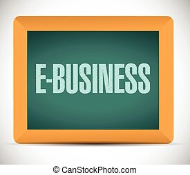 e-business message illustration design over a white...