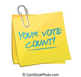 your vote counts memo illustration
