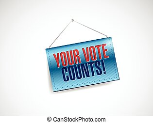 your vote counts banner illustration
