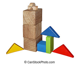Montessori toys - Wooden blocks for play - Montessori toys