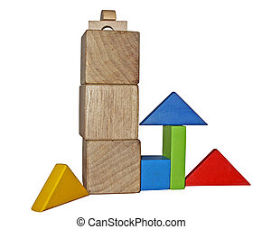 Montessori toys - Wooden blocks for play - Montessori toys