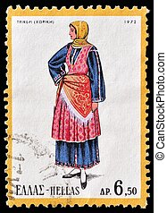 Stamp - GREECE - CIRCA 1973: A stamp printed in Greece from...