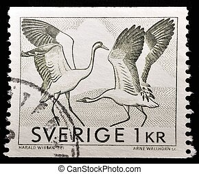Stamp - SWEDEN - CIRCA 1968: A stamp printed in Sweden shows...