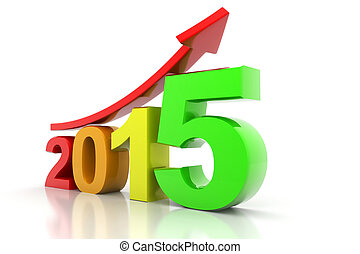 Happy new year 2015 - 3d render of Happy new year 2015
