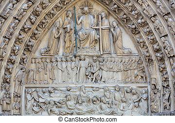 Paris, Notre Dame Cathedral - Last Judgment Portal