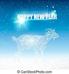 The goat. - The goat - a new year symbol of 2015. Vector...