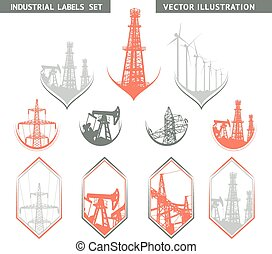 Industrial Lable Set. - Industrial Lable Set of flat lables....