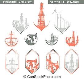Industrial Lable Set. - Industrial Lable Set of flat lables....
