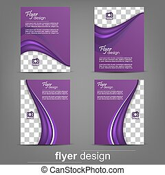 Flyer or cover design set - Set of business flyer template...