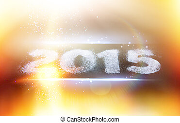 Happy new year card. - 2015 sign for happy new year card.
