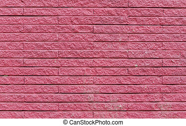 pink cement brick wall, for background