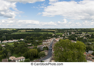 View on La Sauve Gironde - View on Sauve in France with...