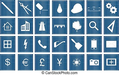 architect icons - icons for architect or construction