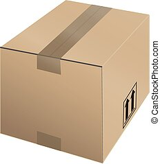 shipping box - vector of shipping box