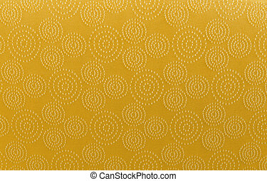 gold art pattern linen fabric texture for background.