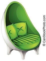 A green chair furniture