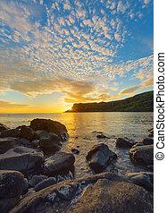 Amazing sunset on the Isle of Skye