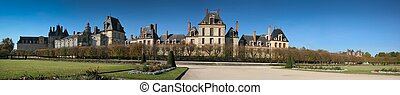 Fontainebleau Castle Panorama - A view from the gardens of...
