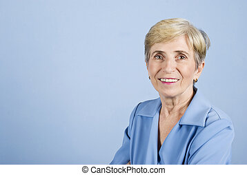 Senior business woman smiling - Portrait of senior business...