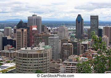 Cityscape of Montreal - An image of Montreal, Quebec, from...