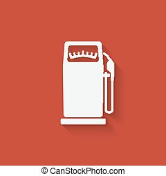 gasoline pump symbol - vector illustration eps 10