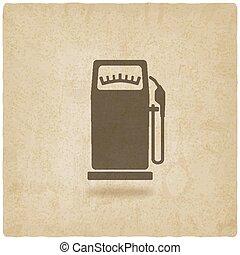 gasoline pump old background - vector illustration. eps 10