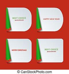 Vector modern christmas banners set