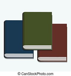 vector modern book on white background.